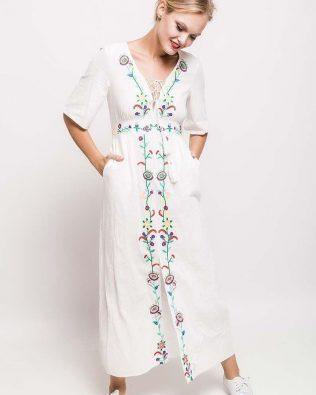 Dlhé šaty White
