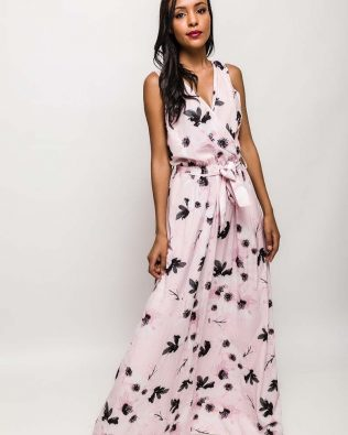 Maxi šaty Pink