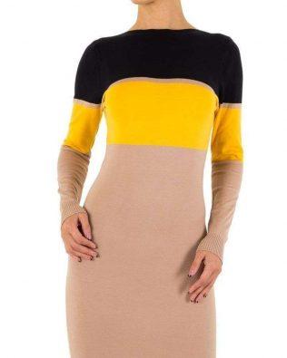 Svetríkové šaty Tricolor