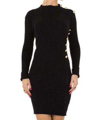 Úpletové šaty Black gold