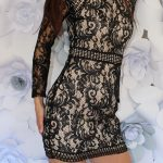 Mini šaty black Lace