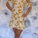 Volánové šaty Mustard