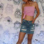 Riflová sukňa Blue