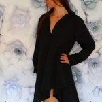 Košeľová tunika Black