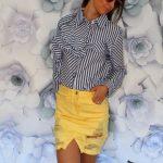 Riflová sukňa Yellow