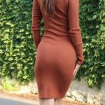 Rolákové šaty Camel