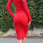 Svetríkové šaty Red gold