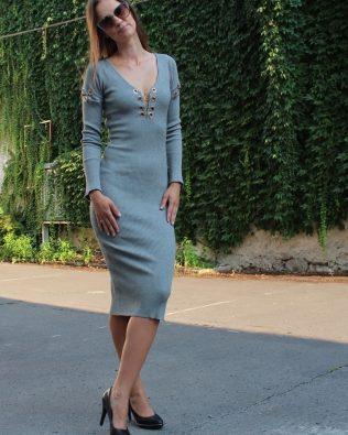 Svetríkové šaty Grey Gold