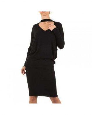 Svetríkové šaty Black