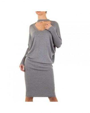Svetríkové šaty Grey