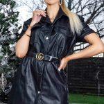 Kožené šaty black
